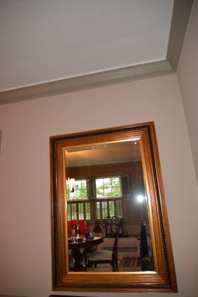 Lot 016 Wood Mirror 45H x 32W x 3L PICK UP IN ROCKVILLE CENTRE, NY