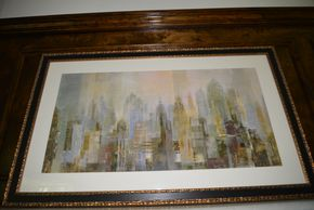 Lot 015 Framed Print NYC 17.5H x 35.5W PICK UP IN PORT WASHINGTON,NY