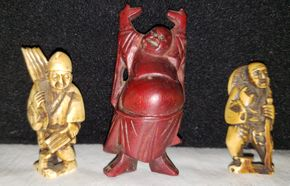Lot 008 Lot of 3 Buddha Figurines/Statues PICK UP IN MINEOLA,NY