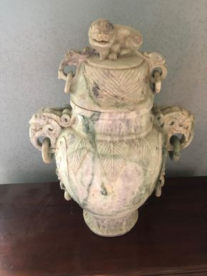 Lot 033 Large Chinese hardstone CENSER 20.5H x 14W PICK UP IN RVC