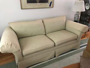Lot 113 Ethan Allan 2 Seat Sofa 27H x 39W x 87L PICK UP IN GRDEN CITY