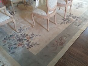 Lot 031 Chinese Wool Blend Rug 9x 12 PICK UP IN MANHASSET