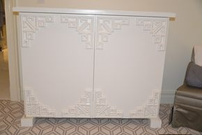 Lot 026 White Lacquer Custom Cabinet w/ Television Lift Cabinet 51W x 40H x19D PICK UP IN NEW HAVEN, CT