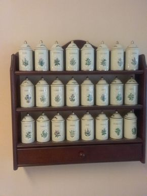 Lot 071 16 Inch Spice Rack with 24 4 Inch Lenox Canisters PICK UP IN WEST HEMPSTEAD