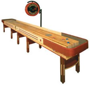 Lot 002 Grand Champion Limited Edition American Heritage Shuffleboard Table including puck 16 FT L x 32W x 35H  Scoring Mechanism Circuit board needs replacing PICK UP IN NEW HAVEN, CT
