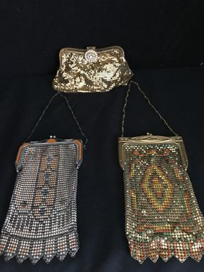 Lot 140 Lot Of 3 Whiting and Davis Mesh Evening Bags PICK UP IN GARDEN CITY