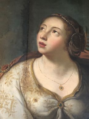 Lot 077 18thC Portrait of A Young Woman Restoration