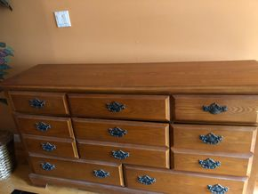 Lot 027 11 Drawer Dresser 61L x 18W x 17D  ITEMS MUST BE PICKED UP IN LONG BEACH