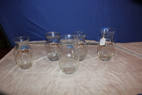 Lot 005 Lot of Assorted Glass Vases ITEMS CAN BE PICKED  UP IN WESTBURY