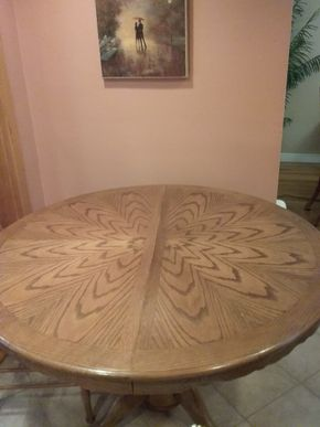 Lot 037 Round Pedestal Kitchen Table 29H x 48 Inches In Diameter PICK UP IN COMMACK