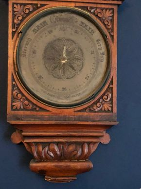 Lot 076 Antique Barometer/Weather Station in need of Repair