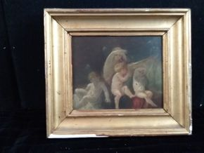 Lot 032 Old Masters Painting Framed 10.75H x 12.25W