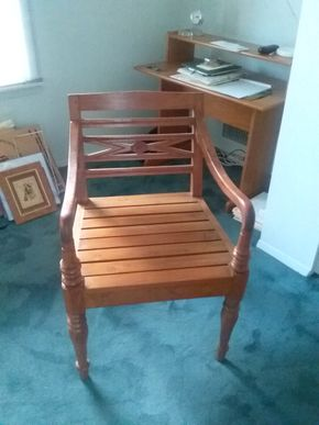 Lot 093 Wood Chair 32.5H x 21W x 20.5L PICK UP IN OLD BROOKVILLE
