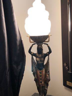 Lot 095 King Tut Lamp 22inches Tall PICK UP IN NORTH MASSAPEQUA