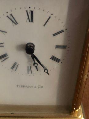 Lot 018 Tiffany quartz carriage Clock 5.5 H x 3W x 2D PICK UP IN RVC