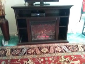 Lot 010 Wood Fireplace Mantel. 34H X 17W X 48L. PICK UP IN HEMPSTEAD.