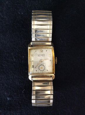Lot 008 14k Mens Gruen Wrist Watch In Need Of Repair PICK UP IN WEST HEMPSTEAD