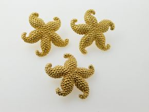Lot 033 Pick Up DeliveryLot of  1pair-18k Starfish Earrings and 1-18k Starfish Pin PICK UP IN ROCKVILLE CENTRE, NY