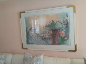 Lot 008 Signed Decorative Print 41 x 55.5 PICK UP IN ROCKVILLE CENTRE