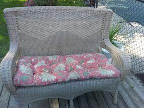 Lot 048 Outdoor Wicker Love Seat 39H x 21W x 52L PICK UP IN COMMACK