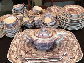 Lot 021 Large Lot Of Colonial Times By Crown Ducal China PICK UP IN LYNBROOK