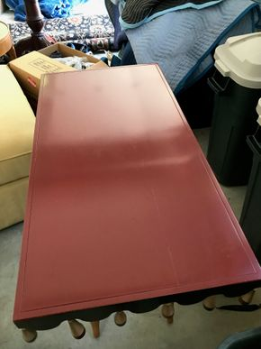 Lot 108 Painted Wood Sofa Table 30H x 20W x 29.5L PICK UP IN LAWRENCE
