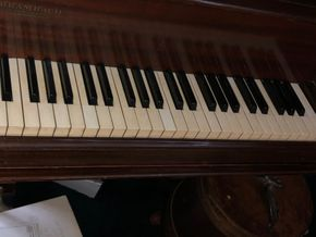 Lot 027 Baby Grand Piano As Is Not tested PICK UP IN RVC