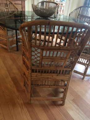 Lot 003 Lot of 6 Bamboo Chairs PICK UP IN PORT WASHINGTON