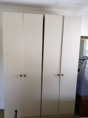 Lot 014 Lot of 2 Wardrobe Closets Free Standing 86H x 30W x 16.34D PICK UP IN GREAT NECK,NY
