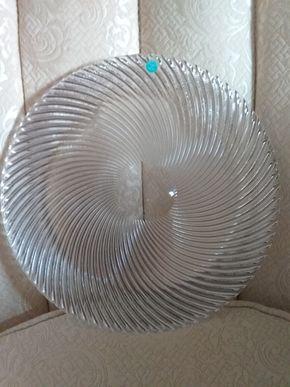 Lot 028 Tiffany Cut Glass Serving Platter 12 Inches In Diameter PICK UP IN N MASSAPEQUA