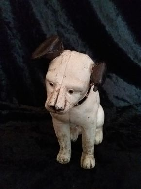 Lot 007 Cast Iron Dog Bank 6 Inches Tall PICK UP IN FLORAL PARK