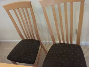 Lot 003 Lot Of 4 Italian Made Side Chairs 41H x 17W x 19L PICK UP IN OCEANSIDE