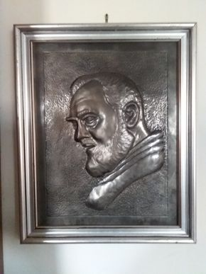 Lot 030 Antonio Paglia Original Wrought Iron Handmade In Italy Padre Pio Portrait 15 x 12 PICK UP IN N MASSAPEQUA