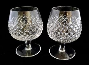 Lot 019 PU/CC Lot of 2 Waterford Brandy Glass Alana 5.12.5H PICK UP IN CARLE PLACE,NY