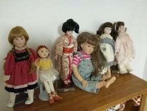 Lot 033 Lot Of Porcelain Dolls Included My Twin PICK UP IN CEDARHURST