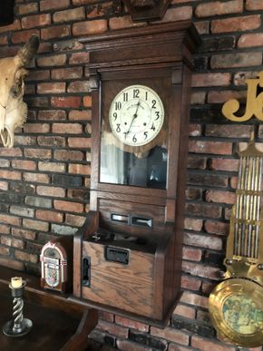 Lot 007 Chelsea Time Recording Clock 46inches overall FOR REPAIR AND RESTORATION PICK UP IN EAST MEADOW