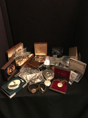 Lot 009 Lot Of Mens Assorted Items including Cufflinks, Watches And Belt Buckles. PICK UP IN BELLMORE.