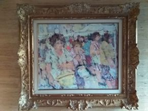 Lot 034 Signed Pierre Anfosso Oil On Canvas 15 x 18.25 PICK UP IN MANHASSET