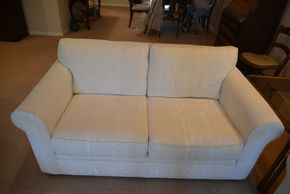 Lot 014 Bauhaus Upholstered Love Seat  27.5H x 59.5W x 36.5L PICK UP IN GLEN COVE, NY
