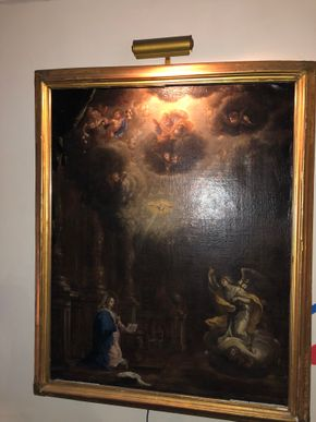 Lot 125 Antique 18thc-19thc Old Masters Allegorical Painting Some Restorations 39T x 31.5W