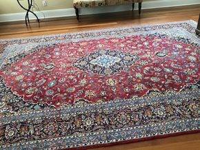 Lot 052 Handmade Kazem Persian Rug 9 X 13 PICK UP IN LAWRENCE