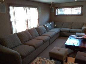 Lot 048 3 Piece Rowe Furniture Sectional Aprox 28H x 38W X 142L PICK UP IN ROCKVILLE CENTRE
