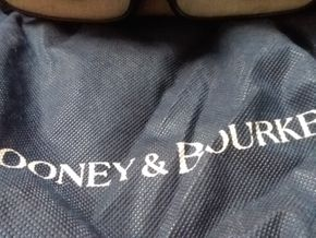 Lot 051 Dooney and Bourke Small Double Pocket Tote PICK UP IN GARDEN CITY