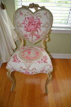 Lot 018 DEL PETER/ Heart backed chair with rose pattern tabriz and carved rosewood elements  38H x 19W x 19D PICK UP IN PECONIC/RIVERHEAD