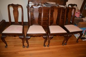 Lot 033 Delivery Lot of 4 Dining Side Chairs 38.5H x 18W x 15.5L PICK UP IN ROCKVILLE CENTRE, NY