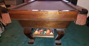 Lot 002 Pool Table 30H x 48W x 87L Overall w/ Accessories  PICK UP IN LEVITTOWN, NY