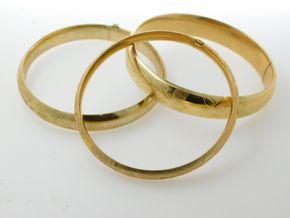 Lot 035 Lot of 3 14k Gold Bracelets PICK UP IN ROCKVILLE CENTRE, NY