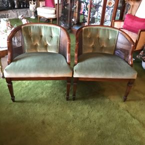 Lot 071 Lot of 2 Side Chairs. 28.5 H X 26W X 25L. AS Is Rip on Bottom Of Chair. PICK UP IN BELLMORE.