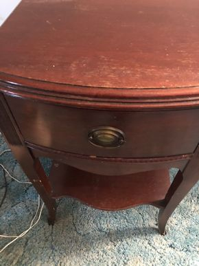 Lot 009 PUP Mahogany End Table PICK UP IN WEST HEMPSTEAD