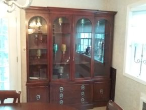 Lot 030 Restored Drexel Heritage China Cabinet 80H x 14W x 72L PICK UP IN ROCKVILLE CENTRE